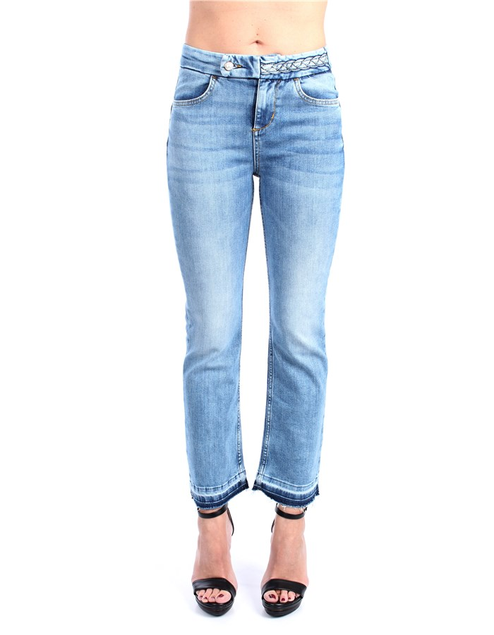 Liu Jo Denim Wide Fund Den blue