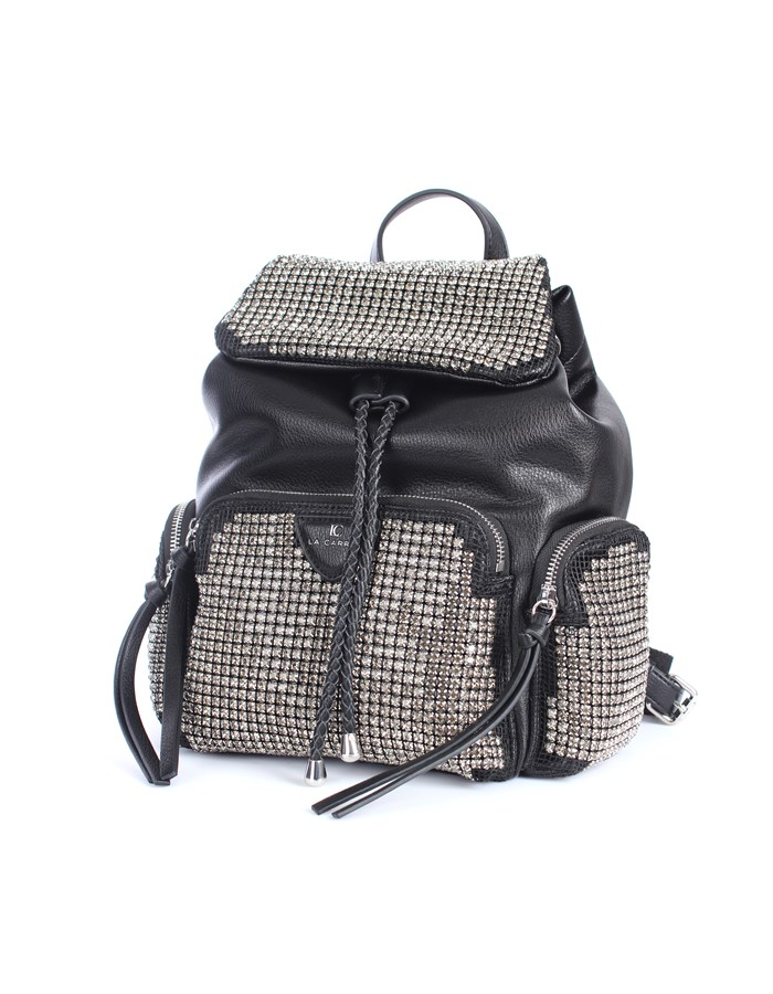 La Carrie Backpacks Black / Silver
