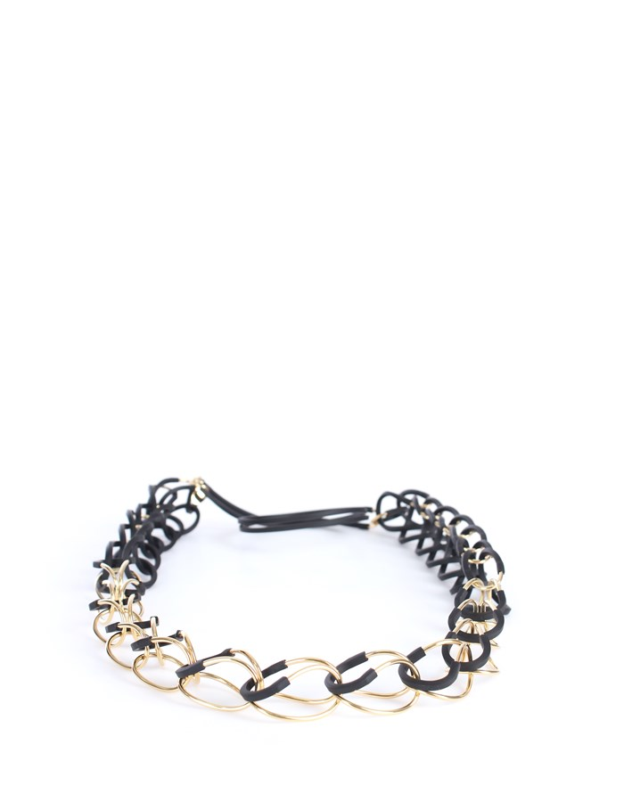 Liviana Conti Necklaces Black / Gold