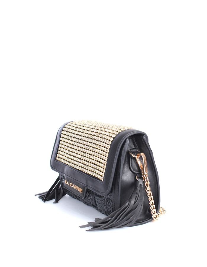 La Carrie Shoulder straps & Messenger Black