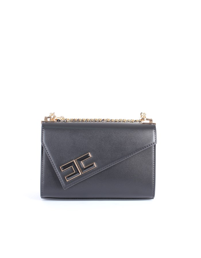Elisabetta Franchi Shoulder straps & Messenger Black