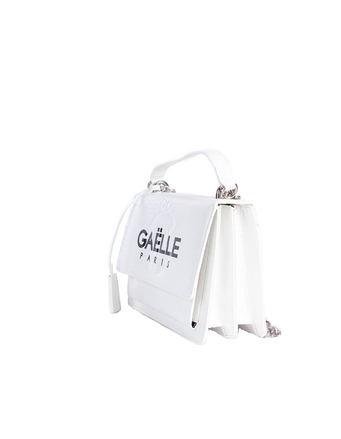 Gaelle Paris Shoulder straps & Messenger White
